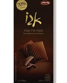 שוקולד אגו מריר ללא סוכר 100 גר'