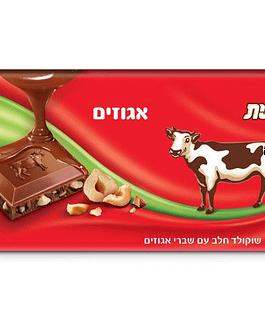 שוקולד חלב עם שברי אגוזים 100 דרם עלית
