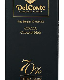 שוקולד דלקונטה 70% 100 גר'